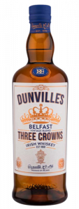 Dunville's Three Crowns Irish Blended Whiskey bottle