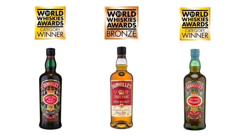 Dunville's Irish Whiskey in triple win at World Whiskies Awards