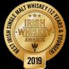 Irish Whiskey Awards 2019 Best Irish Single Malt Under 12 Years medal