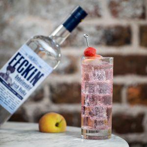 Feckin Irish Vodka bottle square imagewith cocktail