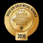 Irish Gin Gold Medal Irish Whiskey Awards 2018 logo