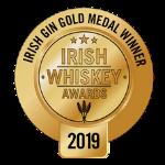 Irish Gin Gold Medal logo from Irish Whiskey Awards 2019