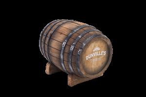 Dunville's Irish Whiskey Coin Barrel