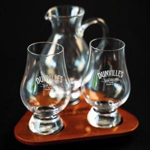 Dunville's Irish Whiskey Flight tray