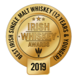 Irish Whiskey Awards 2019 Best Irish Single Malt Age 12 Years and Under logo