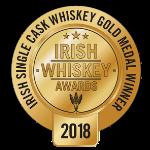 Irish Whiskey Awards Single Cask Gold Medal logo