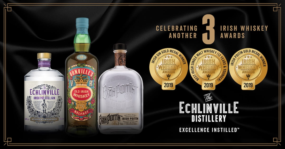 Triple win for Echlinville at the Irish Whiskey Awards