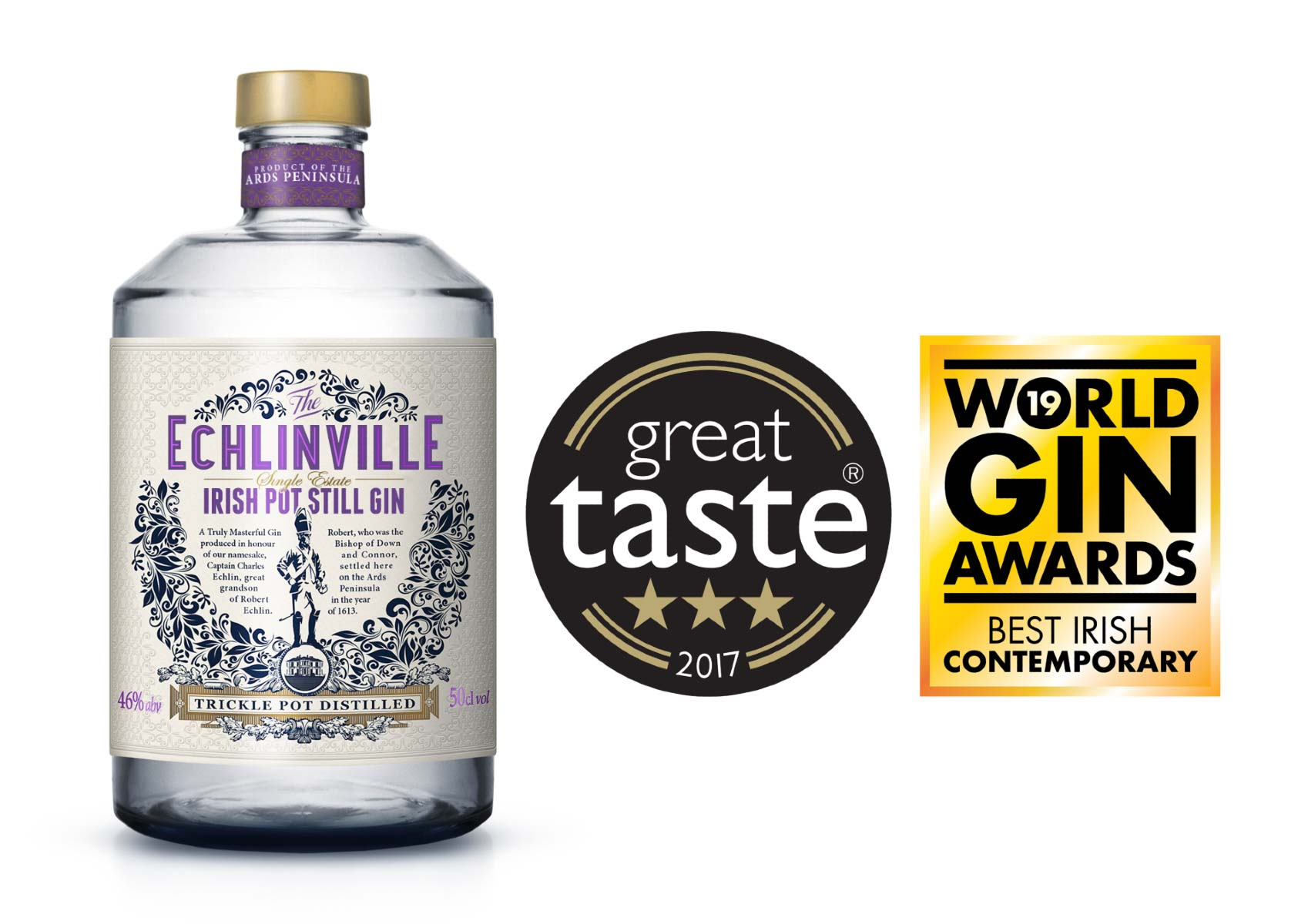 Echlinville Gin named Ireland's Best Contemporary Style Gin