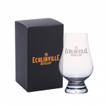 The Echlinville Distillery whiskey glass with black and copper gift box