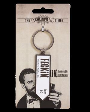 Feckin metal key ring