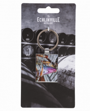 Echlinville branded keyring with an image of the Pot Stiill.