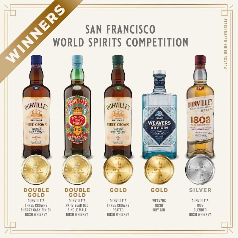Five awards at San Francisco Spirits Competition