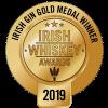 Irish Gin Gold Medal logo Irish Whiskey Awards 2019
