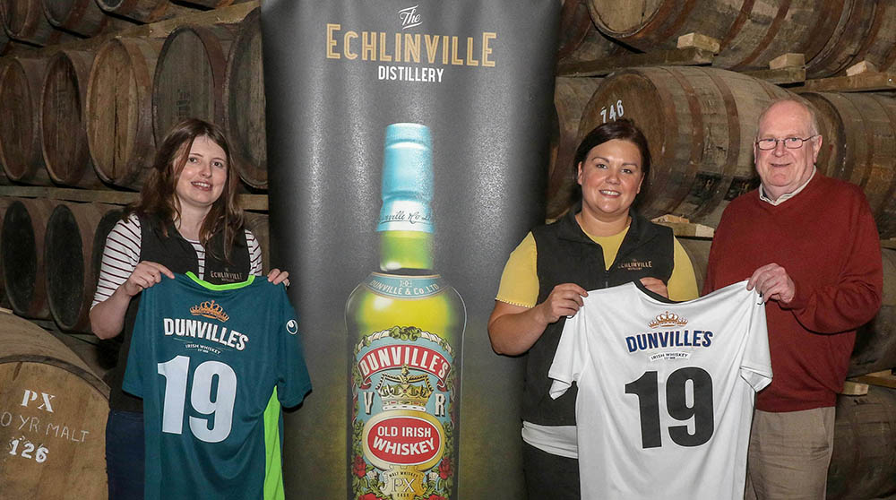 Echlinville back Distillery Football Club with iconic Dunville's brand