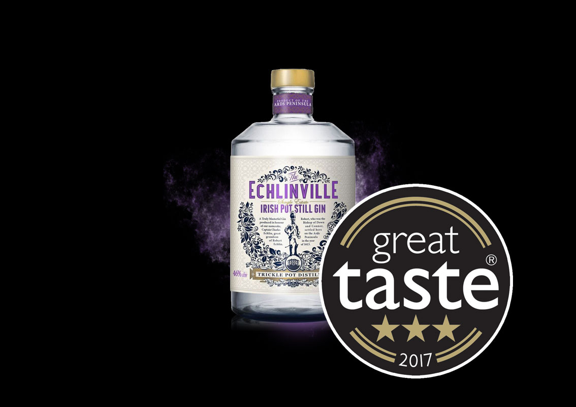 Echlinville Gin wins top 3 Star rating at Great Taste Awards