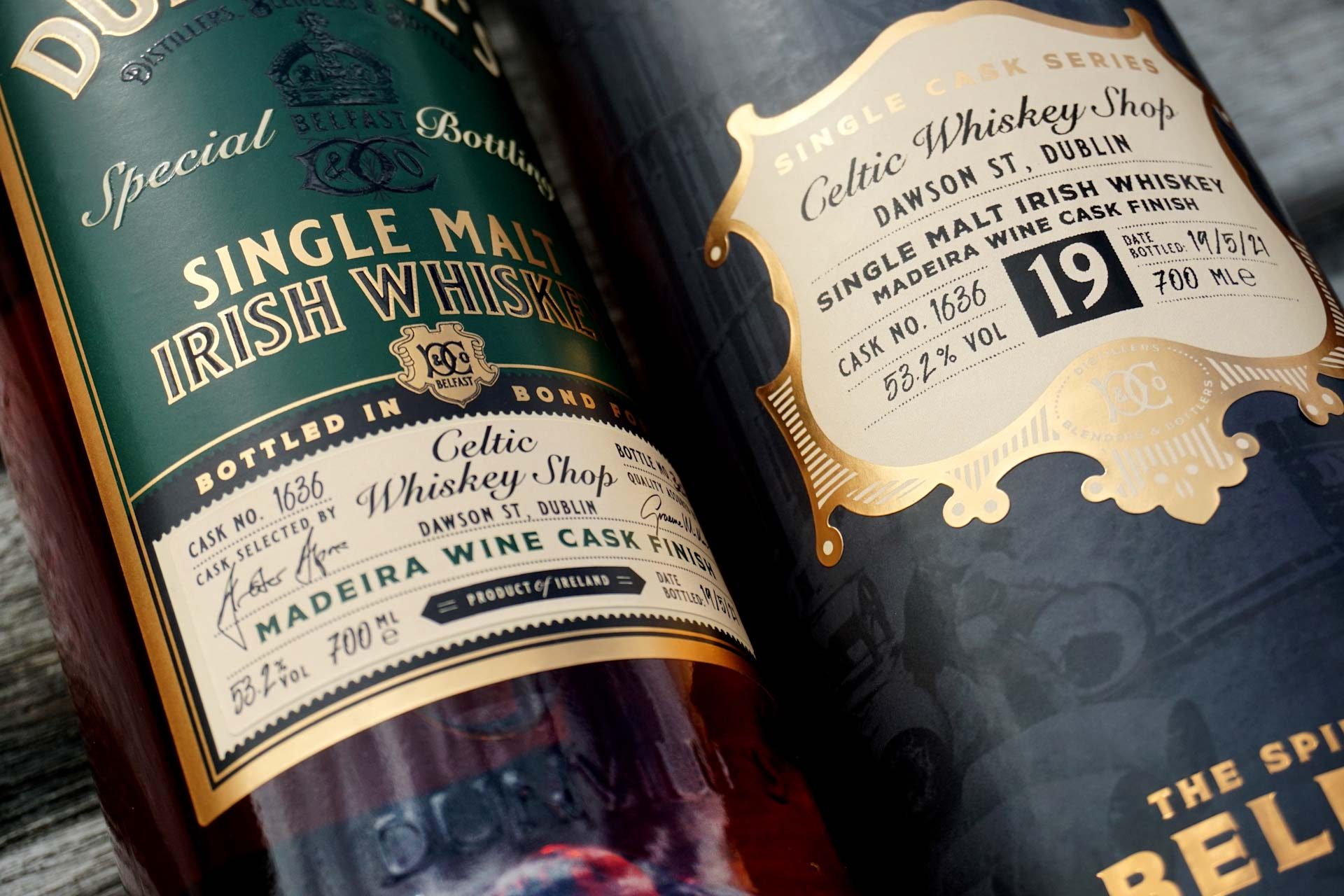 Dunville's exclusive single cask for Celtic Whiskey Shop