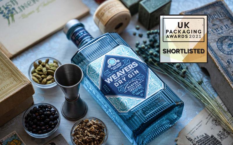 Weavers Gin bottle shortlisted for design award